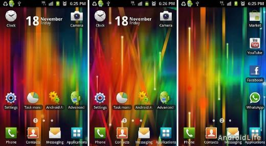 Rainbow Spectrum Interface Live Wallpaper
