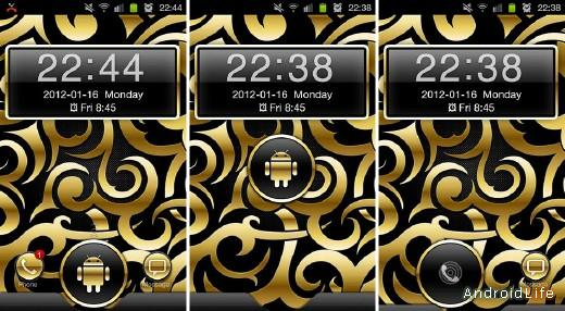 Gold Droid GO Locker Theme