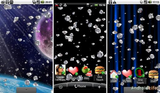 Rain of Diamonds LiveWallpaper v 1.3