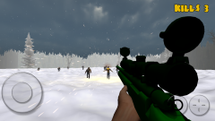 Zombie Sniper: Winter Survival - зомби, зомби, зомби!